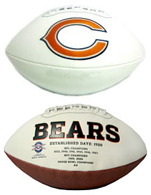 Chicago Bears Full Size Embroidered Signature Series Football