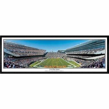 Chicago Bears First Day Game Framed Panoramic Print