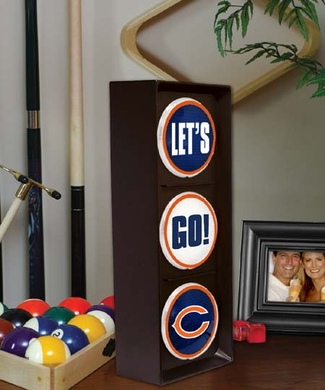 Chicago Bears Flashing Stop Light