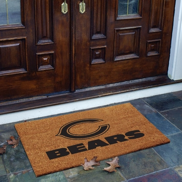 Chicago Bears Flocked Coir Doormat