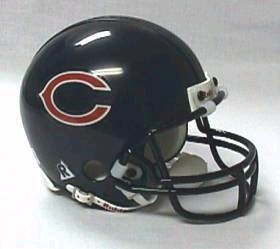 Chicago Bears Replica Mini Helmet w/ Z2B Face Mask