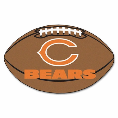 Chicago Bears Football Shaped Rug