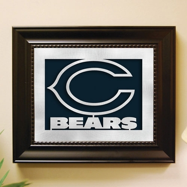Chicago Bears Framed Laser Cut Metal Wall Art