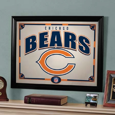 Chicago Bears Framed Mirror