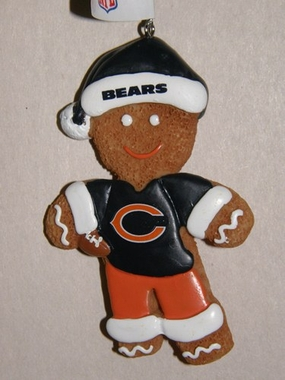Chicago Bears Gingerbread Man Christmas Ornament