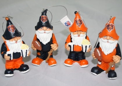 Chicago Bears Gnome Ornament 4 Pack