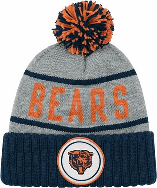 Chicago Bears High 5 Vintage Cuffed Pom Hat