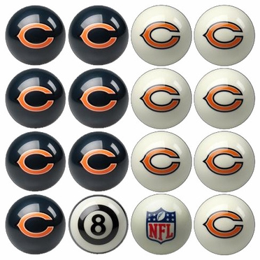 Chicago Bears Home and Away Complete Billiard Ball Set