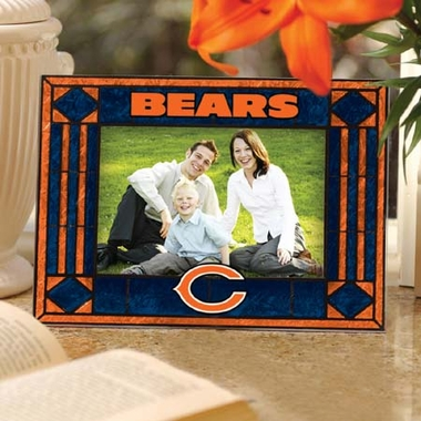 Chicago Bears Landscape Art Glass Picture Frame