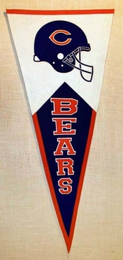 Chicago Bears Large Wool Pennant