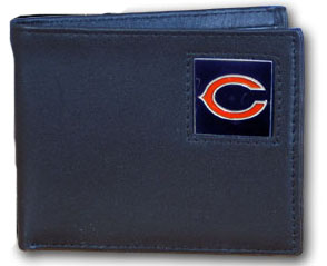 Chicago Bears Leather Bifold Wallet (F)