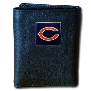 Chicago Bears Leather Trifold Wallet