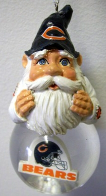 Chicago Bears Light Up Gnome Snow Globe Ornament