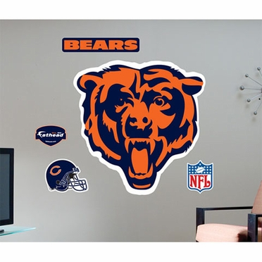 Chicago Bears Logo Fathead Wall Graphic