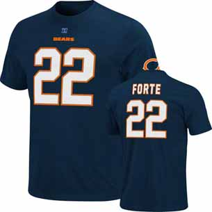 Chicago Bears Matt Forte Eligible Receiver Player T-Shirt - X-Large