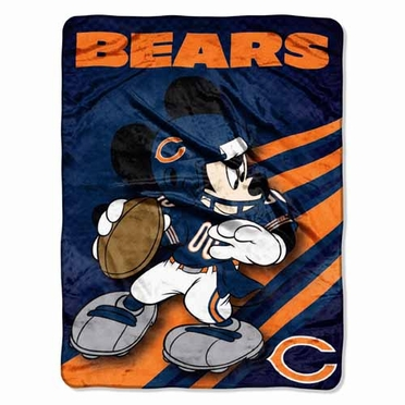 Chicago Bears Mickey Mouse Microfiber Throw