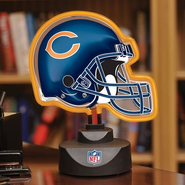 Chicago Bears Neon Display Helmet