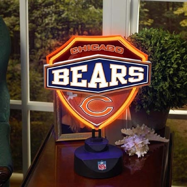 Chicago Bears Neon Shield Table Lamp