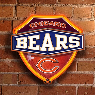 Chicago Bears Neon Shield Wall Lamp