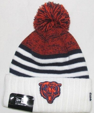 Chicago Bears New Era NFL Snowfall Stripe Cuffed Knit Hat