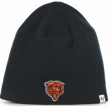 Chicago Bears NFL 47 Brand Team Logo Cuffless Knit Beanie Hat