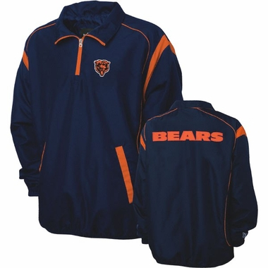 Chicago Bears NFL Red Zone 1/4 Zip Navy Jacket