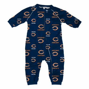Chicago Bears NFL Toddler Raglan Zip Up Sleeper