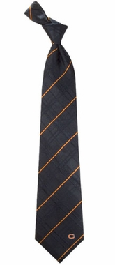 Chicago Bears Oxford Stripe Woven Silk Necktie