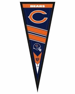 """Chicago Bears Pennant Frame - 13""""x33"""" (No Glass)"""