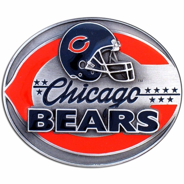 Chicago Bears Enameled Belt Buckle