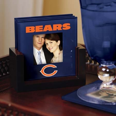 Chicago Bears Photo Coaster Set