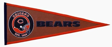 Chicago Bears Pigskin Pennant