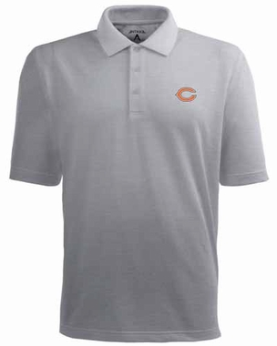 Chicago Bears Mens Pique Xtra Lite Polo Shirt (Color: Gray)