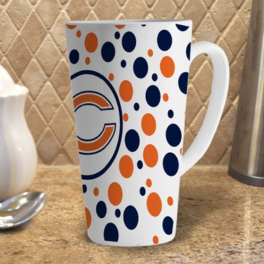 Chicago Bears Polkadot 16 oz. Ceramic Latte Mug