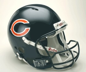 Chicago Bears Riddell Full Size Authentic Revolution Helmet