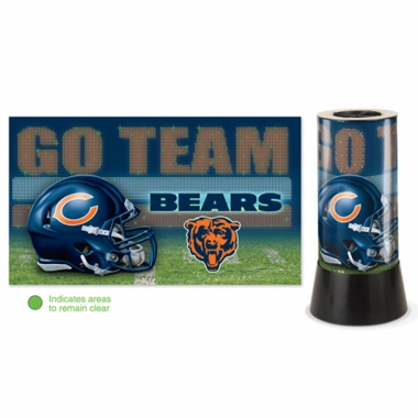 Chicago Bears Rotating Lamp