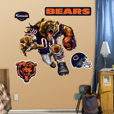 Chicago Bears Running Back Fathead Wall Graphic