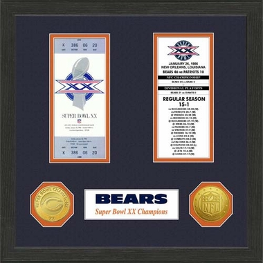Chicago Bears Chicago Bears SB Championship Ticket Collection