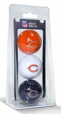 Chicago Bears Set of 3 Multicolor Golf Balls