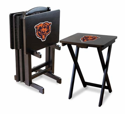 Chicago Bears Set of 4 Folding TV Trays