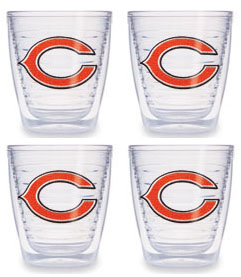 Chicago Bears Set of FOUR 12 oz. Tervis Tumblers