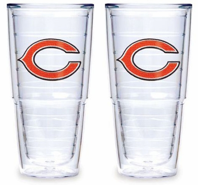 "Chicago Bears Set of TWO 24 oz. ""Big T"" Tervis Tumblers"
