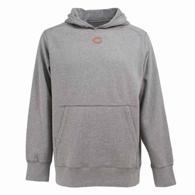 Chicago Bears Mens Signature Hooded Sweatshirt (Color: Gray)