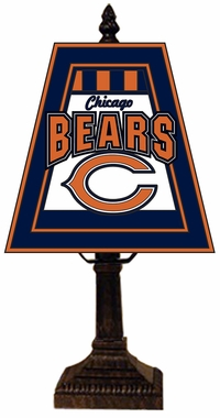 Chicago Bears Small Art Glass Lamp