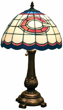 Chicago Bears Stained Glass Table Lamp