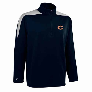Chicago Bears Mens Succeed 1/4 Zip Performance Pullover (Color: Smoke)