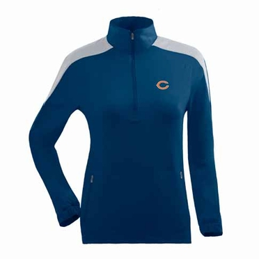 Chicago Bears Womens Succeed 1/4 Zip Performance Pullover (Team Color: Navy)