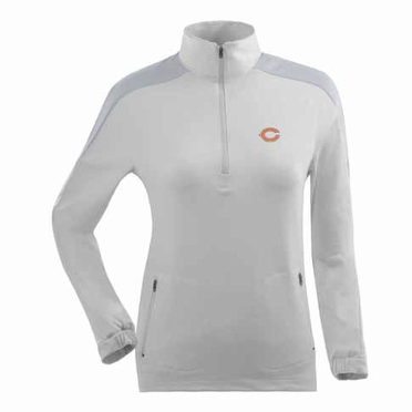 Chicago Bears Womens Succeed 1/4 Zip Performance Pullover (Color: White)