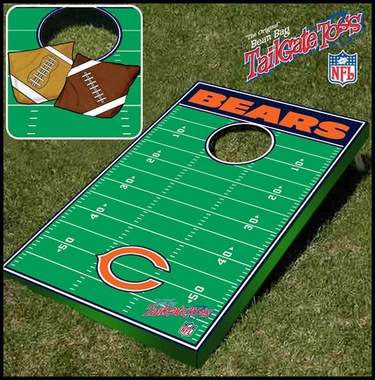 Chicago Bears Tailgate Toss Cornhole Beanbag Game