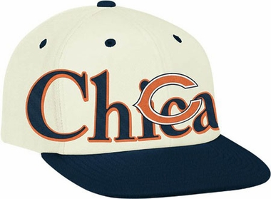Chicago Bears Team Name and Logo Snapback Hat